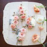 Цветочные заколки для невесты и ее подружек