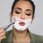 Мода на бритье лица женщинами