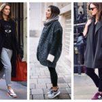 Сочетание кроссовок с различными предметами гардероба