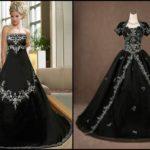 Выбираем готические свадебные платья